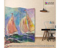 Sailing moments,πτυσσόμενο διαχωριστικό ( Παραβάν,ξύλινο ή καμβάς)