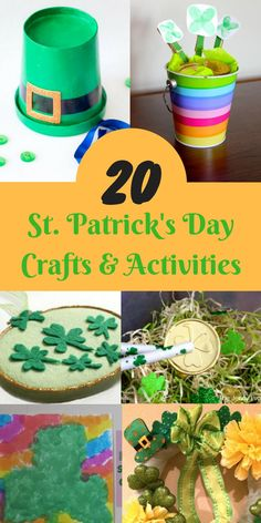 Looking for fun St. Pat's crafts for kids? St. Patrick's Day crafts and activities for kids of all ages and skill levels.
