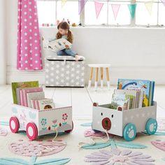 Book Storage Cart - Mr Bear - Bookcases & Bookshelves - Furniture