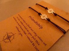 Kompas Charm Bracelets: Verloren zonder je door CraftsbyBrittany