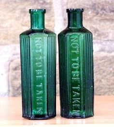 Antique poison bottles