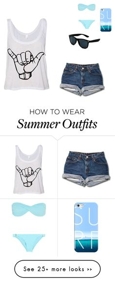 """""""Day of surfing"""" by madelyn5sos on Polyvore featuring Casetify and Melissa Odabash"""