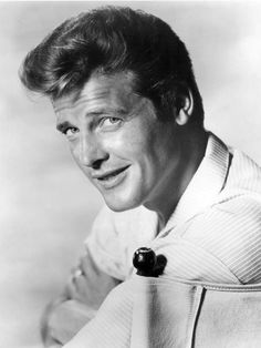 """Roger Moore. British actor """"The Saint"""" 60's TV & was one of the James Bond actors."""