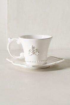 Fleur De Lys Cup & Saucer - anthropologie.com