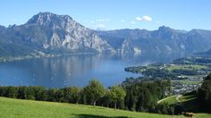 Traunsee beautiful  view near house in altmunster - by pub