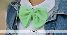♥ mint green bow tie
