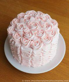 Buttercream Ruffles and Roses Cake for Easter Sunday Lunch