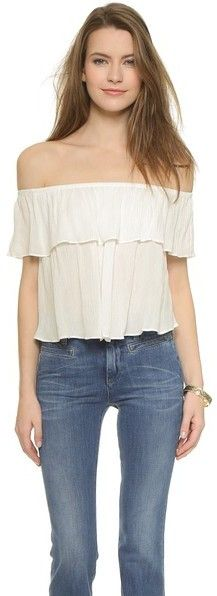 Glamorous Flounce Blouse, white strapless top http://www.shopstyle.com/action/loadRetailerProductPage?id=475612413&pid=uid7609-25959603-56