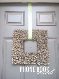book page wreath...HEY finally something to do with those damn phone books!