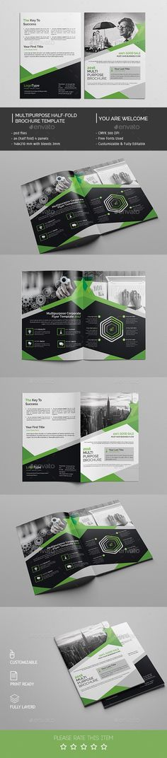 Corporate Bifold Brochure Template PSD #design Download: http://graphicriver.net/item/corporate-bifold-brochure-template/14548903?ref=ksioks