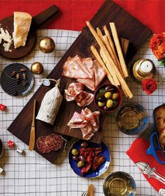 Assemble an assortment of meats, cheeses, and marinated vegetables for an elegant, no-cook appetizer in minutes.