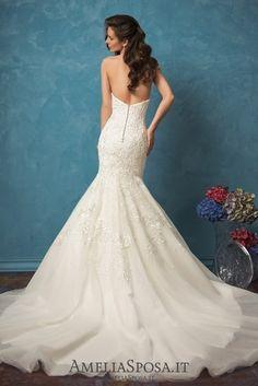 Amelia Sposa Vintage Strapless Mermaid Wedding Dresses Alina4 / http://www.deerpearlflowers.com/amelia-sposa-2017-wedding-dresses/2/