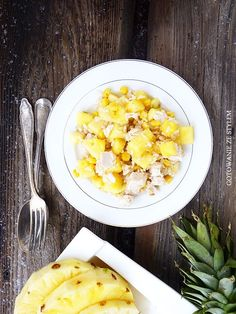 Salad with chicken, pineapple and corn | Gotowanie ze stylem