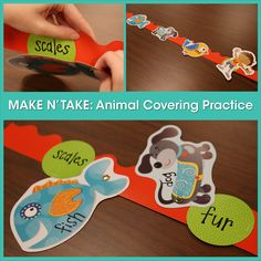 Fun, creative idea for teaching science concept: animal coverings.