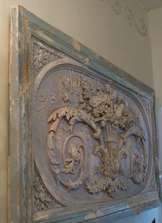 January...where is the snow? Not here in Louisville, perhaps in Sweden and the French Alps. Photo of French Boiserie Plaster from Europe...