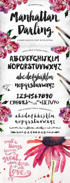 Manhattan Darling Typeface was created as a dual-purpose font, with gritty, imperfect, hand-painted characters and an irregular baseline.