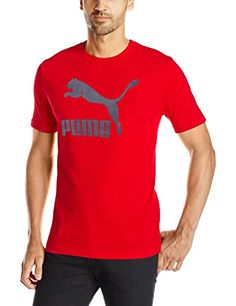 PUMA Men's Archive Life T-Shirt, Barbados Cherry/Peacoat, M - Football Soccer