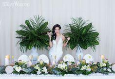 Tropical wedding table setting, tropical wedding decor, beach wedding decor TROPICAL WEDDING IN THE CITY www.elegantwedding.ca