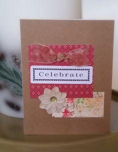 Birthday Card / Celebrate Handmade by CreativeDesigns on Etsy