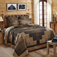 Fill your room with beauty and warmth with this Coal Creek Bedding. You will love the charming Around the World quilting pattern. Check it out.