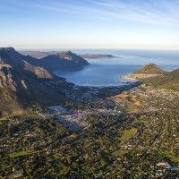 Hout Bay from the air.  Photo by Teagan Cunniffe.