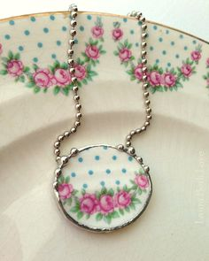 Broken+China+Jewelry+necklace+antique+pink+by+dishfunctionldesigns,+$75.00