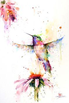 Dean Crouser. Colour Bird and flower