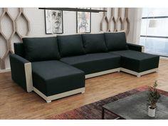 Rohová sedačka BRAGA U, černá látka/krémová látka Rohová sedačka BRAGA U Obrázky rozložené sedačky jsou ilustrativní (jiná barva)! Zadní část sedačky je potažená látkou, je tedy možné postavit sedačku kdekoliv v prostoru. Potahová látka: neo … Outdoor Sectional, Sectional Sofa, Couch, Sofas, Outdoor Furniture, Outdoor Decor, Elegant, Home Decor, Products