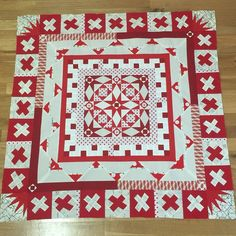 #seamqgbom quilt No. 2 is now up-to-date with the May border #quilting