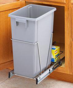 Chrome 40-Qt. Sliding Trash Bin Holder
