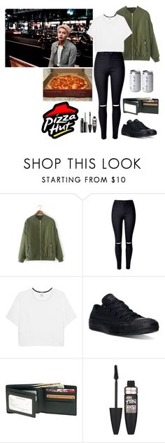 """""""Untitled #572"""" by oned-rita3 ❤ liked on Polyvore featuring Pinko, Converse, Royce Leather, Maybelline and MAC Cosmetics"""