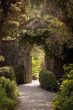 Beautiful garden entrance.