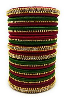 Silk Thread Bangles Design, Silk Bangles, Silk Thread Earrings, Gold Bangles Design, Bridal Bangles, Thread Jewellery, Indian Bangles, Diy Jewellery, Bridal Jewelry
