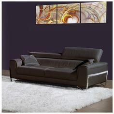 Bellini Modern Living Flynt Leather Sofa Flynt-S