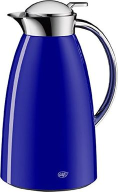 alfi Gusto Glass Vacuum Lacquered Metal Thermal Carafe for Hot and Cold Beverages 10 L Royal Blue -- Click on the affiliate link Amazon.com on image for additional details.