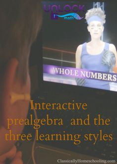 Unlock Math's interactive prealgebra program uses the three learning styles to teach math; Wish the Alg. 2 were already out!