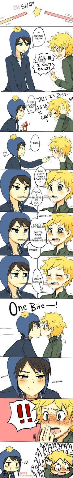 pocky by KataChan.deviantart.com on @deviantART this reminds me of haru and makoto:3