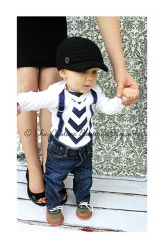 Baby Boy Tie and Suspenders Bodysuit Navy Blue Chevron Tie Suspenders Mustache party ideas Cake Smash Birthday Outfit Christmas Holiday Fall