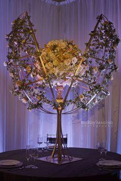 Gorgeous ornate floral art centerpiece.