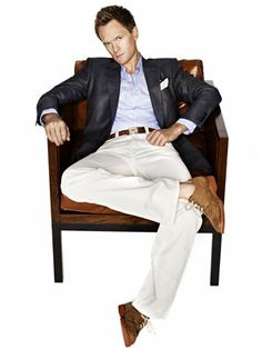 Does NPH golf? I know...not golfing attire, but light beige/khaki coloured pants always make me think of golfing.