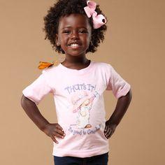 She's too cute! Natural hair little girl