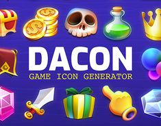 """Check out new work on my @Behance portfolio: """"DACON - Game Icon Generator"""" http://be.net/gallery/62008081/DACON-Game-Icon-Generator"""