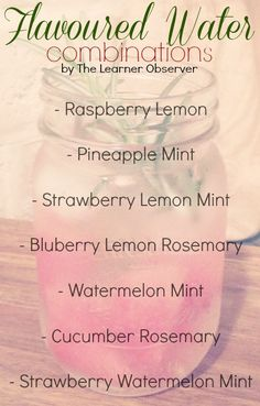 Flavoured Water Combinations The Learner Observer