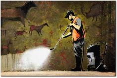 Banksy Street Art Klassiker als Metall Poster-Version neu interpretiert. #banksy #metall-poster #blechschilder #street-art