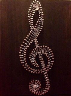 Treble Clef String Art