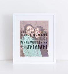 Gift for Mom Photo Canvas or Photo Print | PaperRamma