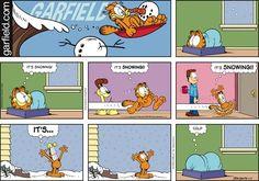 Garfield It's Snowing!!! It's cold.  ga160117.jpg