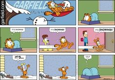 Garfield It's Snowing!!! It's cold.  ga160117.jpg