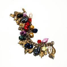 1950's Colorful Charm Bracelet