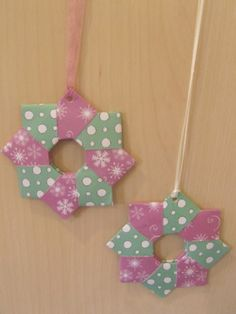 Easy origami christmas wreath with a tute
